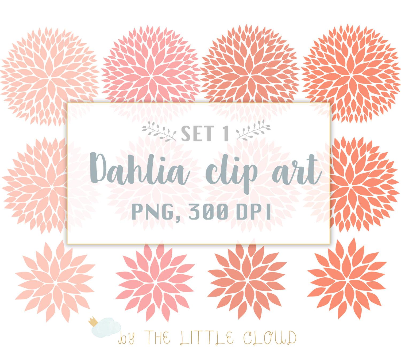 Dahlias clipart.