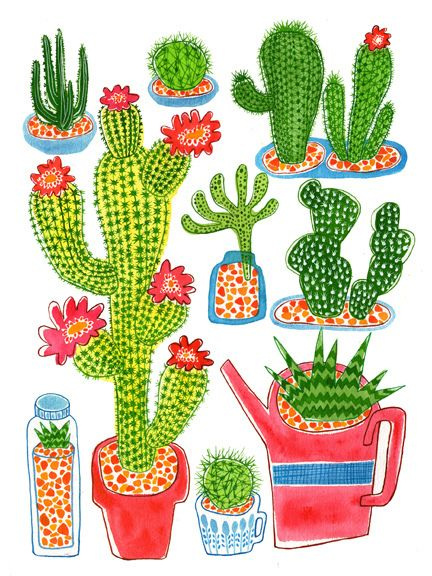 1000+ images about Cactus painting on Pinterest.