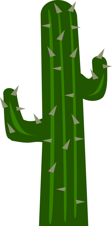 Green Cactus 2 Clipart, vector clip art online, royalty free.