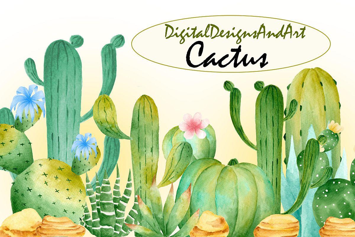 Wild cactus clipart.