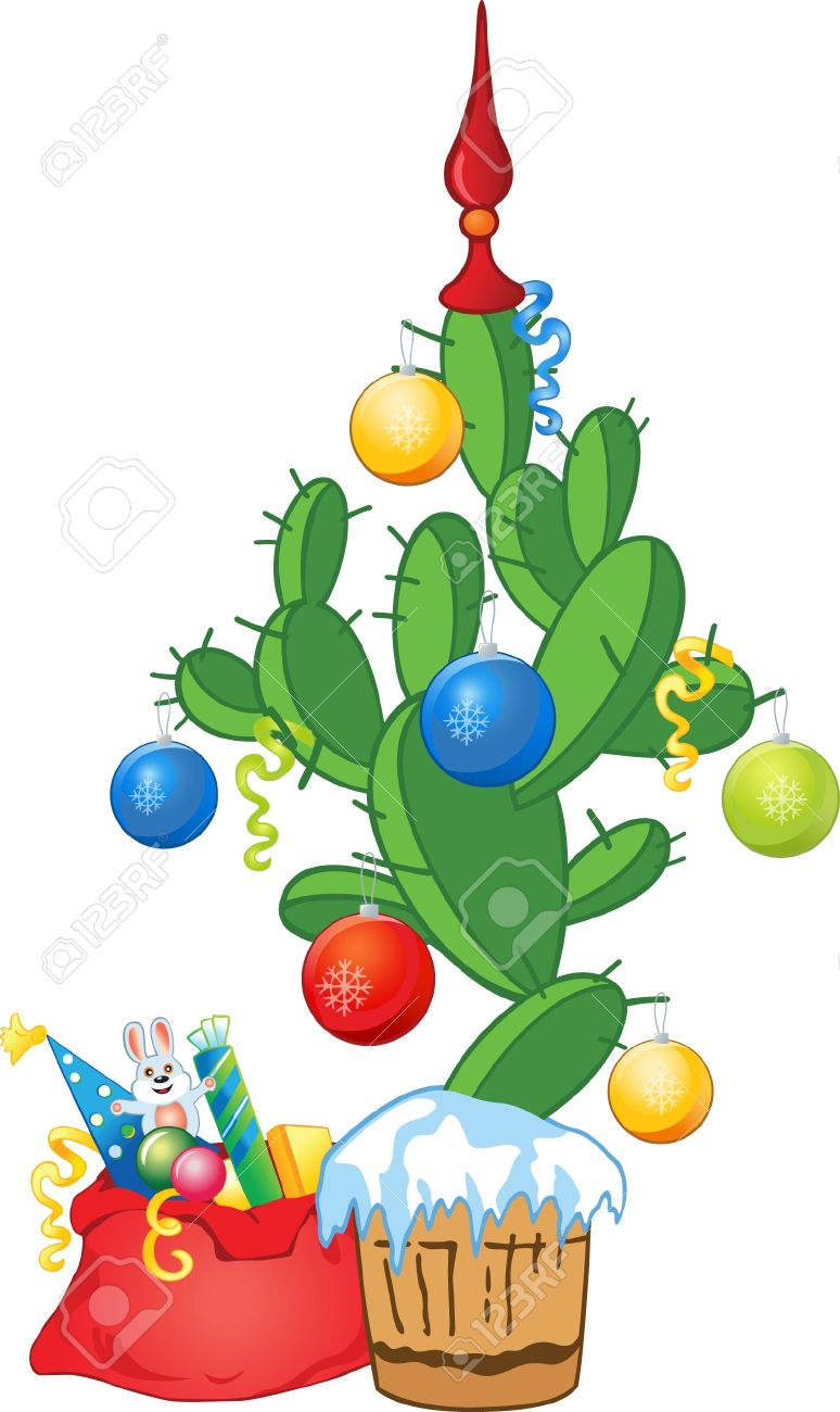 New Year Cactus As Fir.
