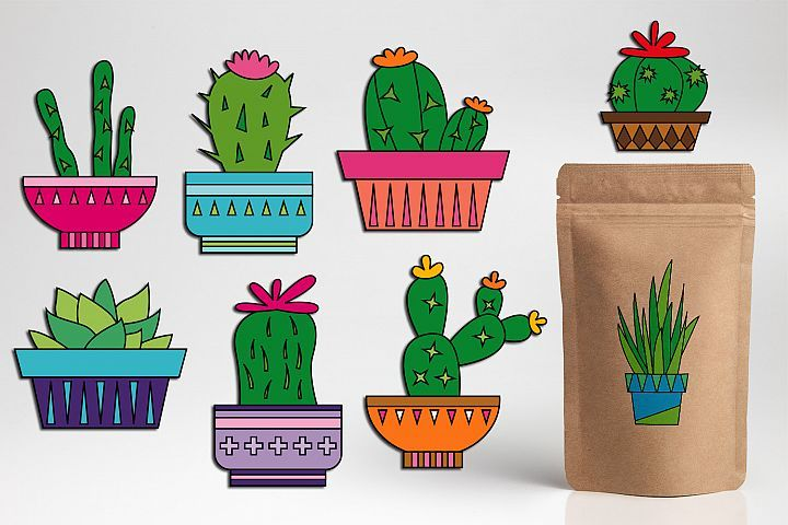 Cacti clipart / cactus plant graphic illustrations in 2019.