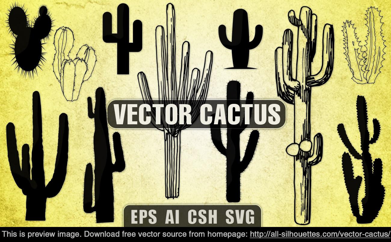 cactus silhouette clipart #5