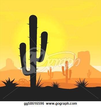 cactus shilouette clipart.
