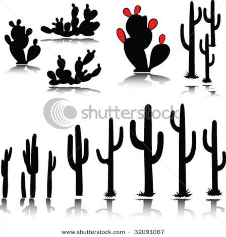 cactus silhouette clipart #14