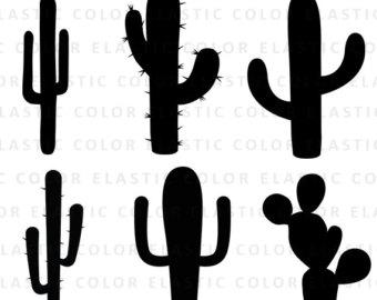 cactus silhouette clipart #15