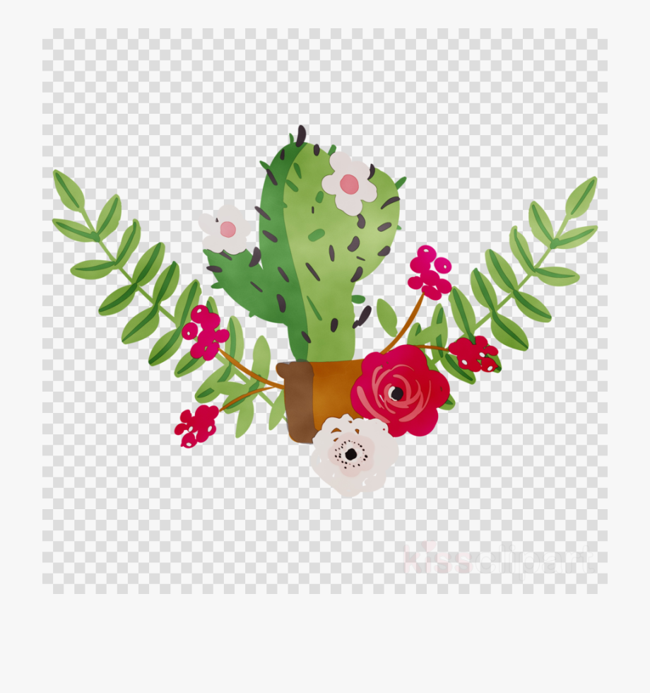 Cactus With Flower Clipart , Transparent Cartoon, Free.