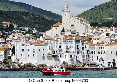 Stock Photography of Seaside city Cadaques, Catalonia, Spain.