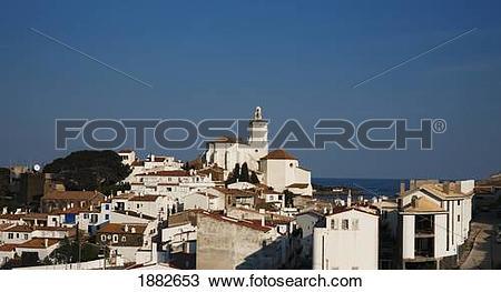 Stock Photo of Santa Maria Church; Cadaques, Girona, Catalonia.
