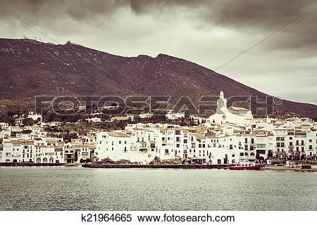Stock Image of Vintage Cadaques k21964665.
