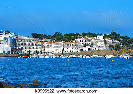 Stock Photo of Coast of Cadaques, Spain k3996522.