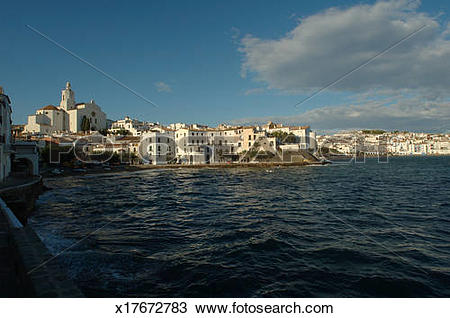 Stock Photo of Cadaqués is the most easterly town in Spain.