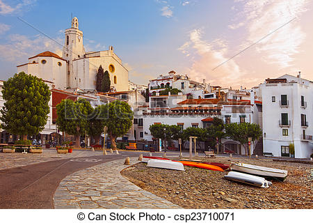 Picture of Mediterranean quay of Cadaques old village.