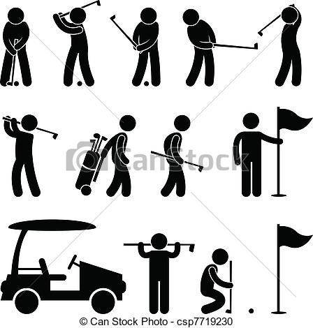 Golf Caddy Clipart.
