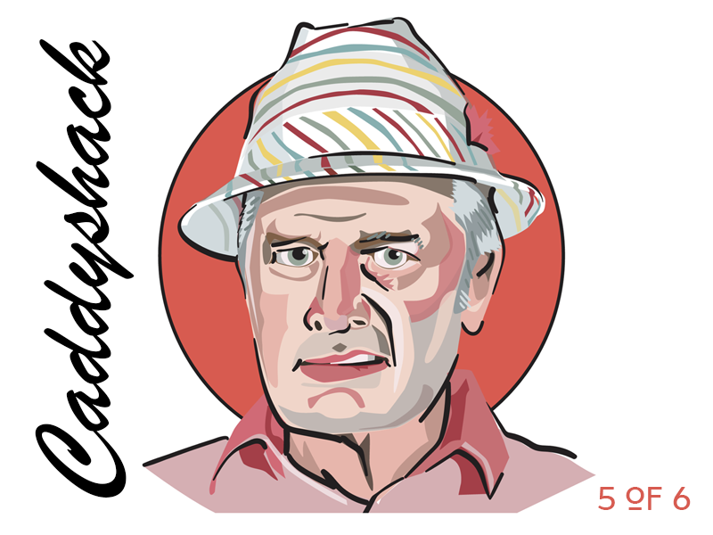 Caddyshack: Judge Smails by Matt Hood on Dribbble.