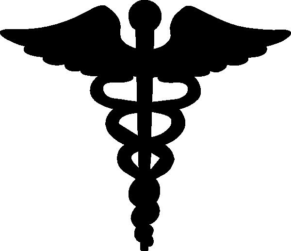 Black Caduceus Clip Art at Clker.com.