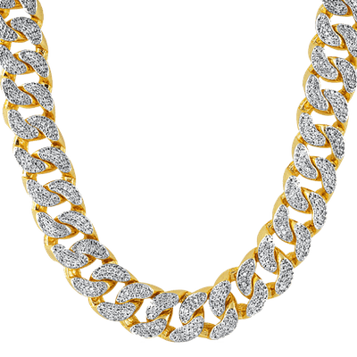 Thug Life Gold Chain Diamonds transparent PNG.