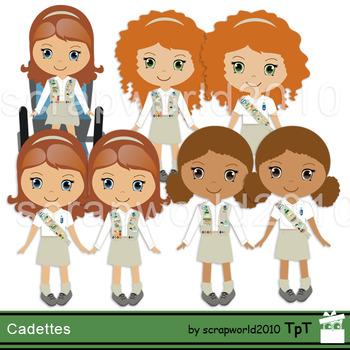 Cadette Girl scout clipart.