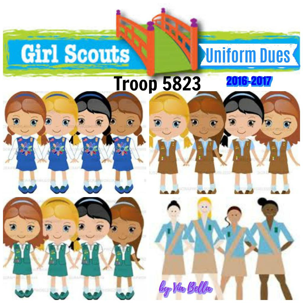 Cadette Girl Scout Clipart Activity 1840.