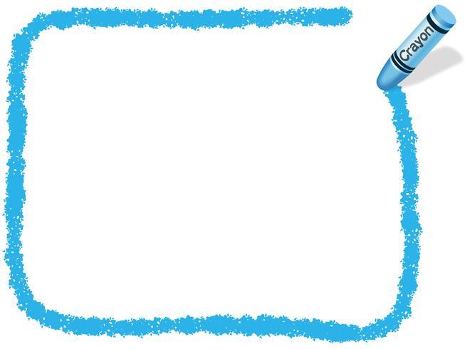 Cadre de crayon rectangle bleu, illustration vectorielle.