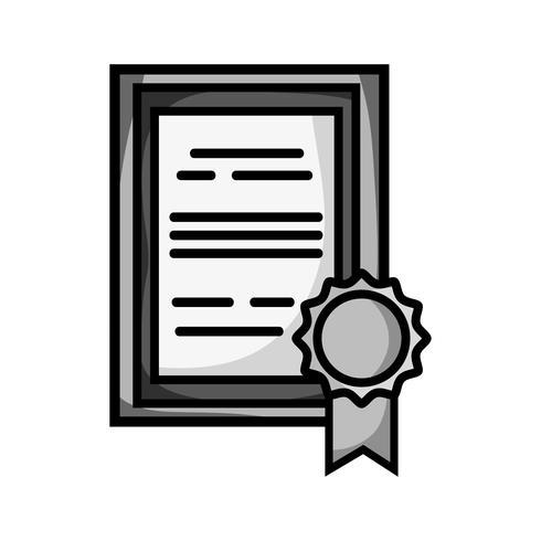 diplôme de fin d'études en niveaux de gris avec cadre en.