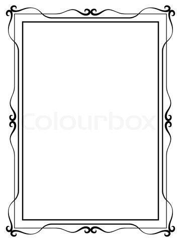 Stock image of \'simple ornamental decorative frame\'.