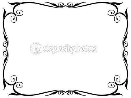 simple cadre décoratif ornement — Illustration #7200216.