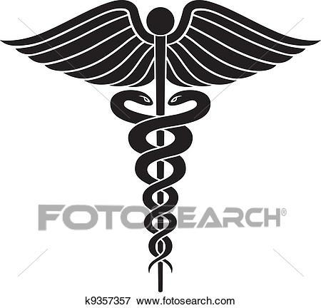 Caduceus Medical Symbol II Clip Art.