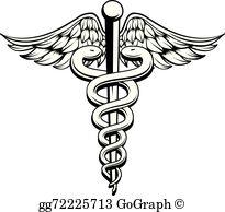 Caduceus Medical Symbol Clip Art.