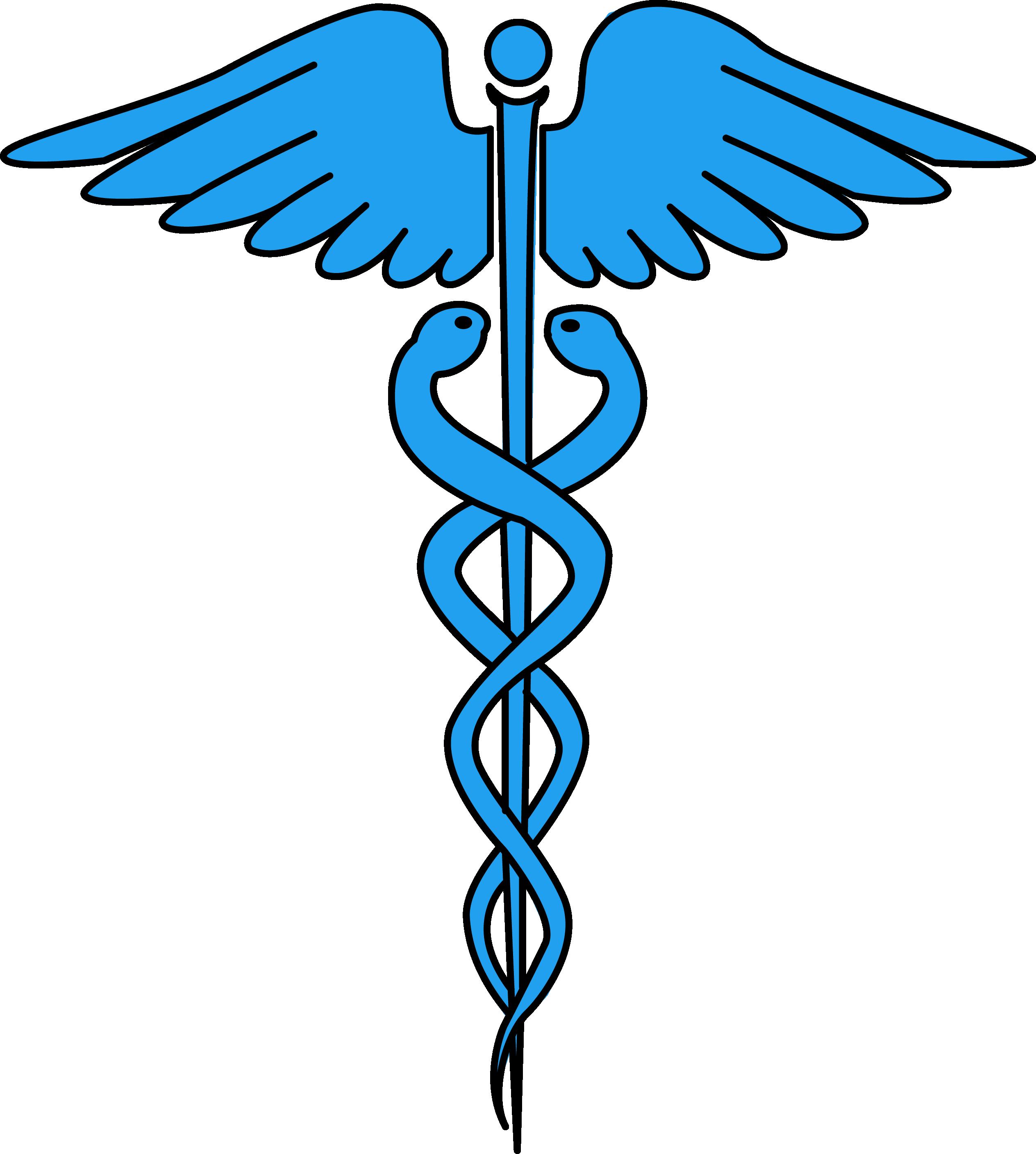 Image for free caduceus medical symbol health high resolution clip.