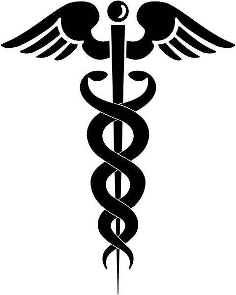 Caduceus clip art Free vector in Open office drawing svg ( .svg.
