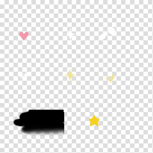 Cae Xion Base, stars and hearts illustration transparent.