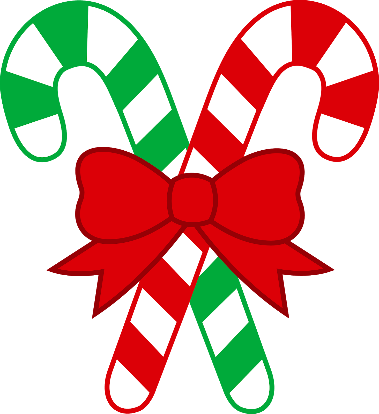 Free clipart christmas candy canes.