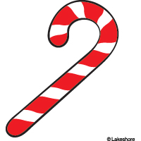 Christmas candy canes clip art borders.