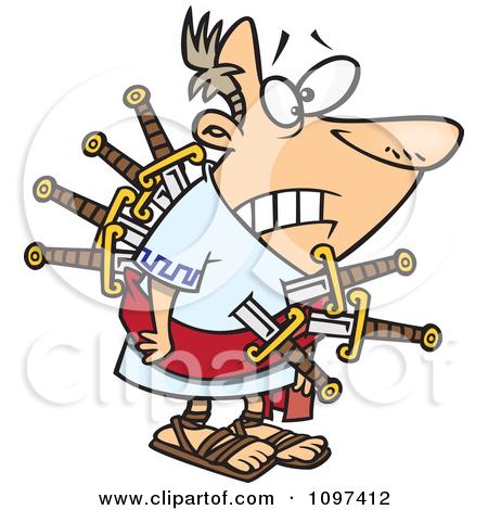Cartoon of Julius Caesar Posing.
