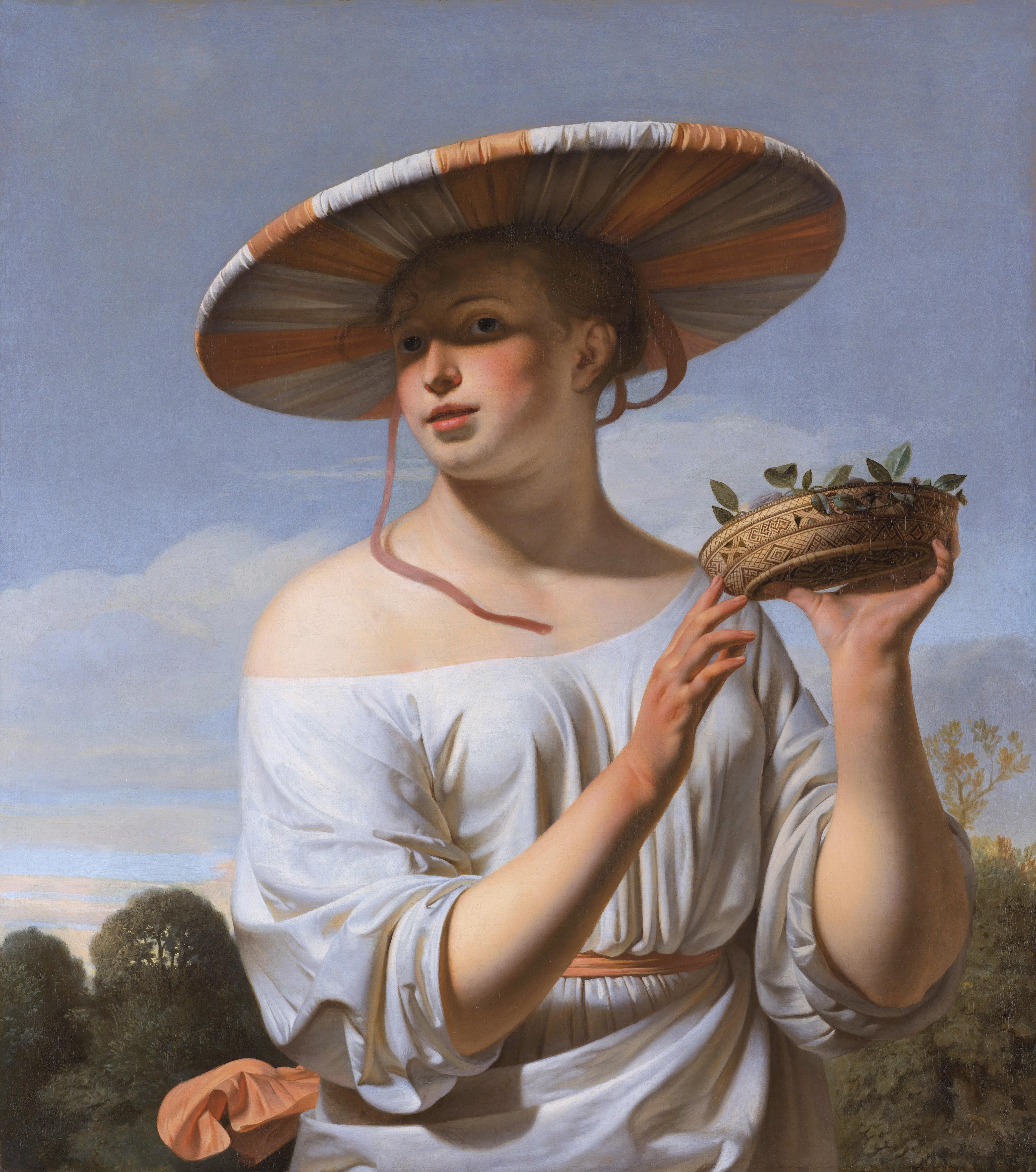 File:Meisje met brede hoed door Caesar van Everdingen.jpg.