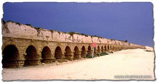Aqueduct At Caesarea Maritima in Israel.