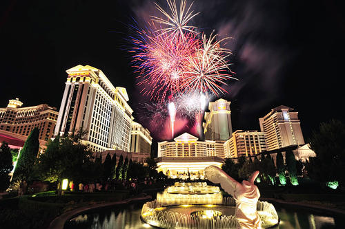 Las Vegas Fireworks July 4th Clipart.