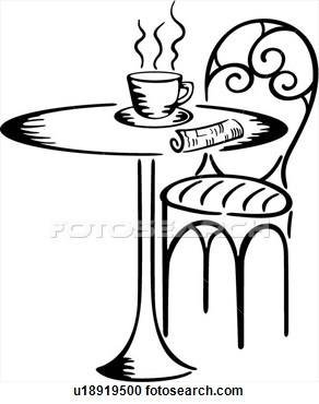 Lady In Cafe Clipart.