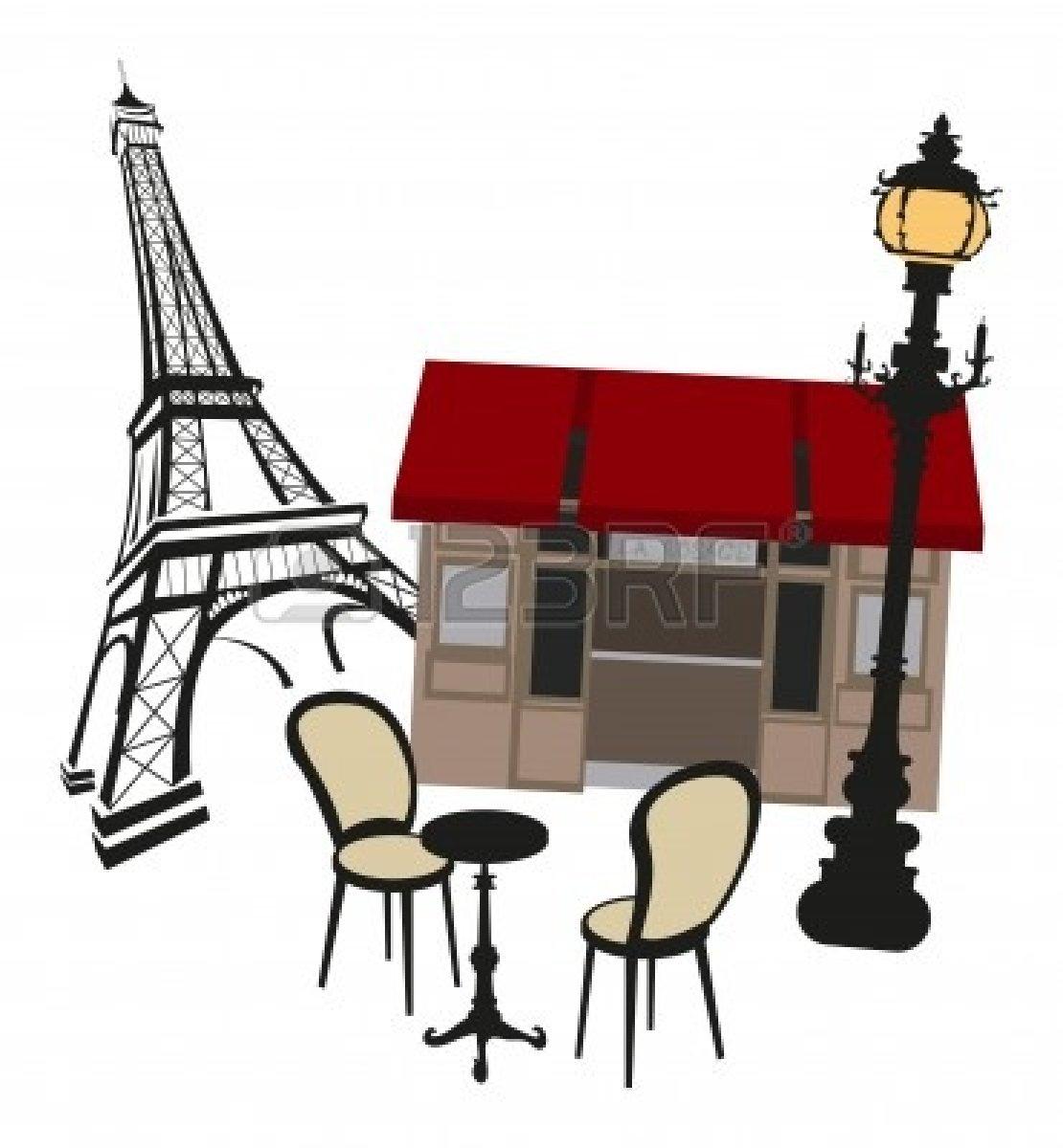 Paris Cafe Clipart.