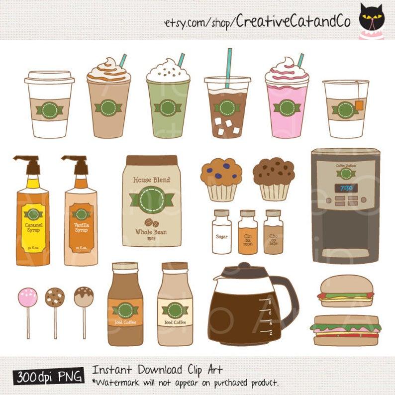 Coffee Clipart Clip Art Coffee Shop Bakery Cafe Clipart.