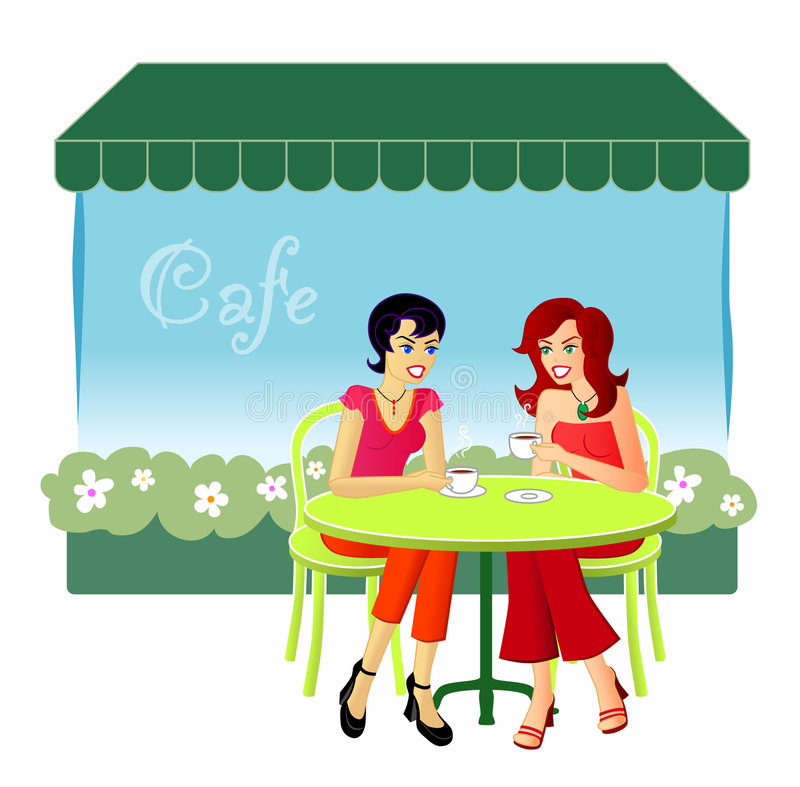 Cafe Stock Illustrations.
