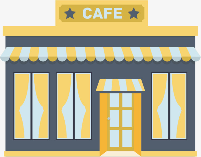 Cartoon Cafe Hut Clipart PNG Peaceful Caf Genuine 5.