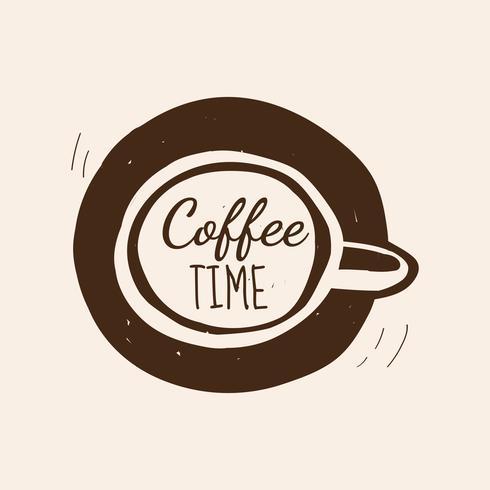 Coffee time cafe logo vector.