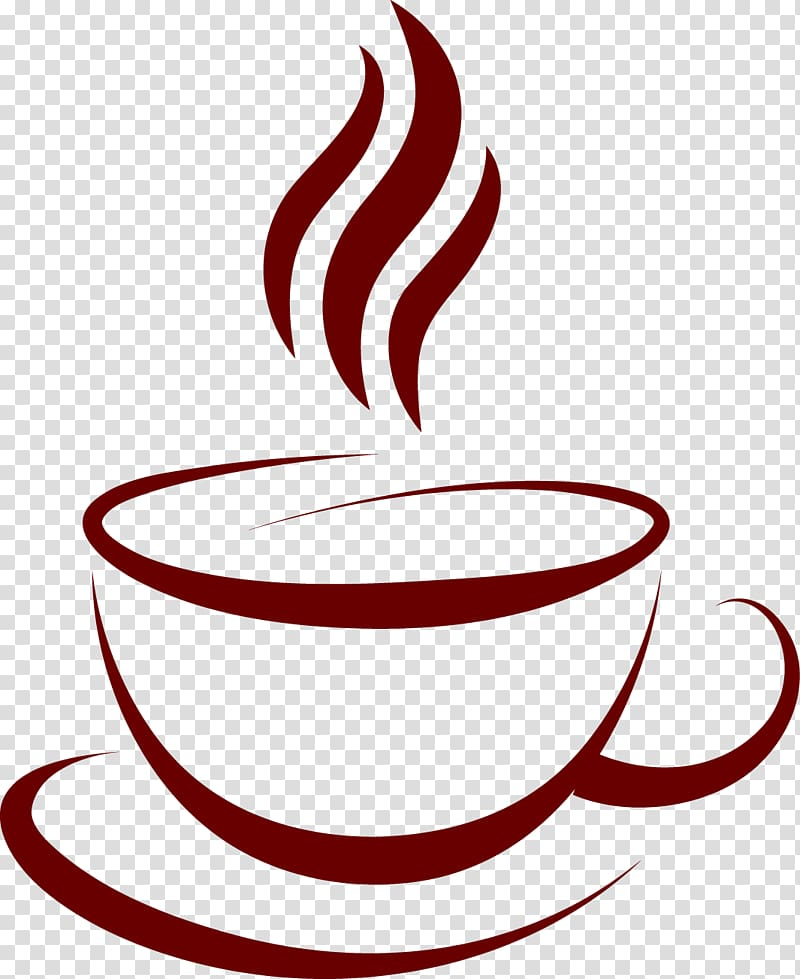 Coffee cup Cafe, Coffee label material, Java logo.