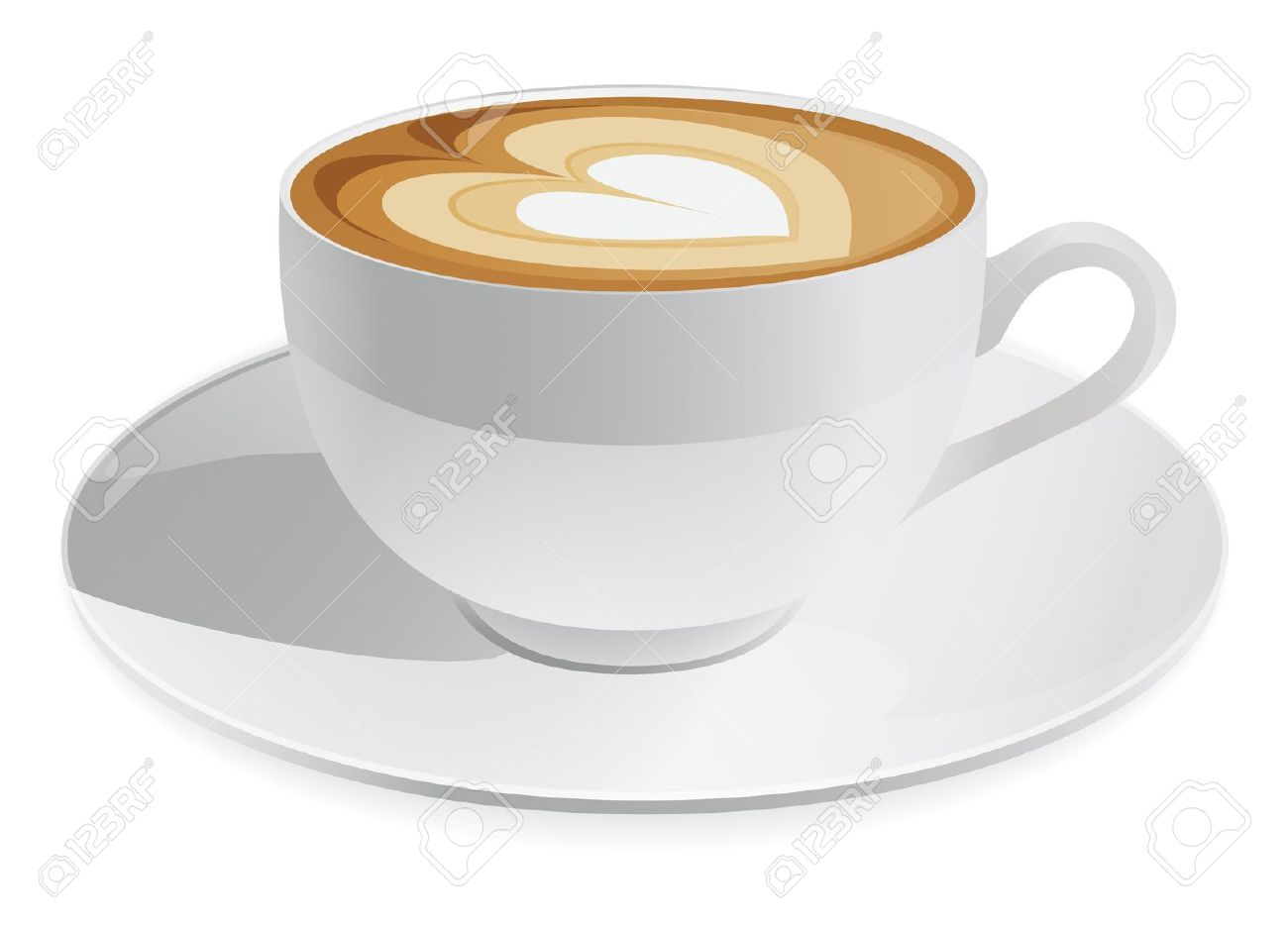 Latte cup clipart.