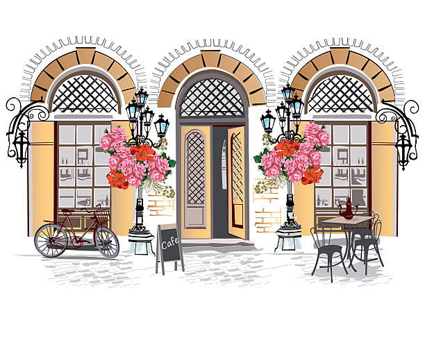 Best French Cafe Illustrations, Royalty.
