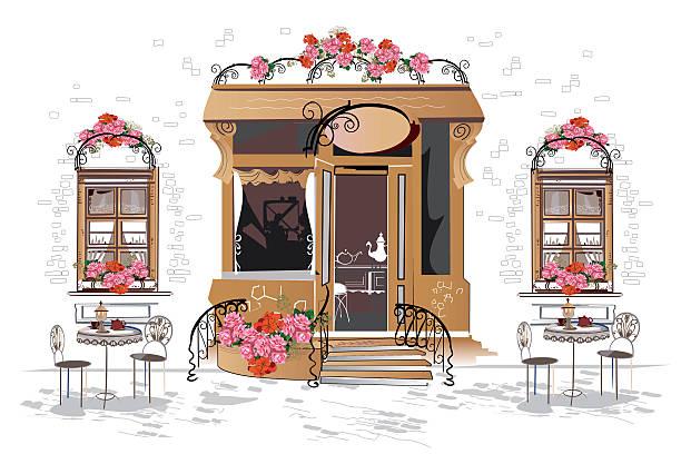 Best Paris Cafe Illustrations, Royalty.