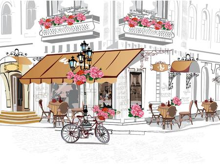 2,258 Paris Cafe Stock Vector Illustration And Royalty Free Paris.