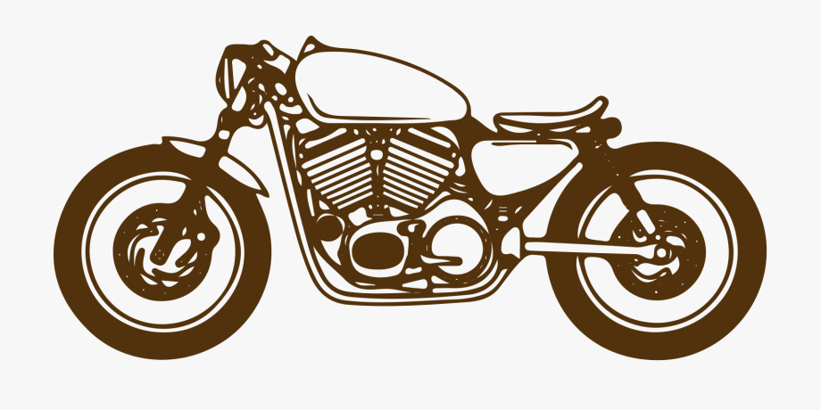 Moto Cafe Racer Png, Cliparts & Cartoons.